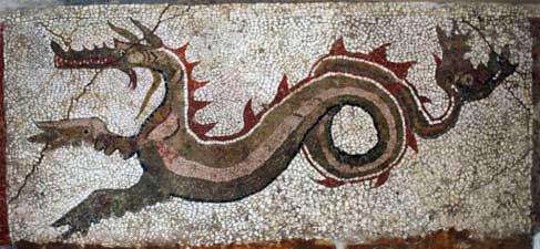 Mak Mosaio Drago Museo Kaulon Monasterace Calabria Contatto