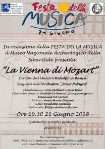 Festa della Musica Vienna di Mozart Calabria Contatto