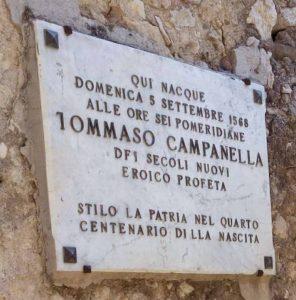 Targa Casa Stilo Tommaso Campanella Calabria Contatto