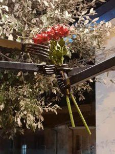 Panchina Rossa Fiori Scigliano Calabria Contatto