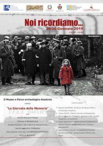 Giornata Della Memoria Noi Ricordiamo Calabria Contatto