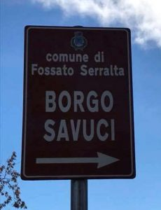 Savuci Borgo Cartello Calabria Contatto