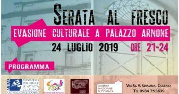 Serata Al Fresco Cosenza Palazzo Arnone Calabria Contatto