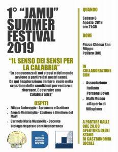 Jamu Summer Festival 2019 Calabria Contatto