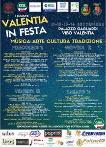 Valentia In Festa Locandina 2019 Calabria Contatto