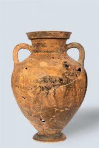 Anfora Calcidese Museo Metauros Calabria Contatto