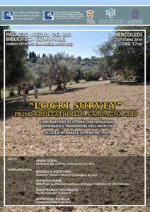 Locri Survey 2019 Calabria Contatto