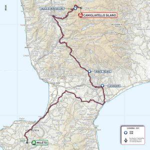 Mappa Giro D'Italia 2020 Camigliatello Calabria Contatto