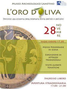 L'Oro D'Oliva Locandina Lametino Calabria Contatto