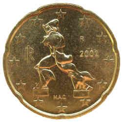 Moneta Venti Cent Euro Forme Uniche Calabria Contatto