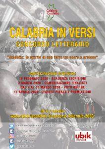 Calabria Versi 2020 Locandina Calabria Contatto