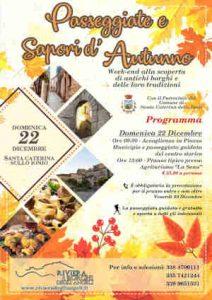 Locandina Passeggiate Sapori Autunno Calabria Contatto