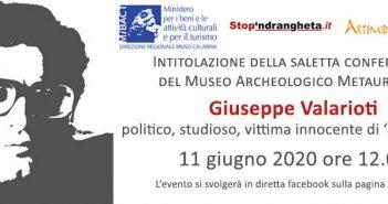 Giuseppe Valarioti Evento Museo Metauros Calabria Contatto