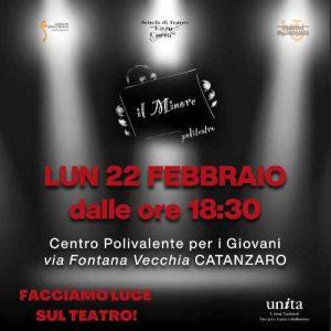 Edizione Straordinaria Teatro Eventi Coronavirus Calabria Contatto