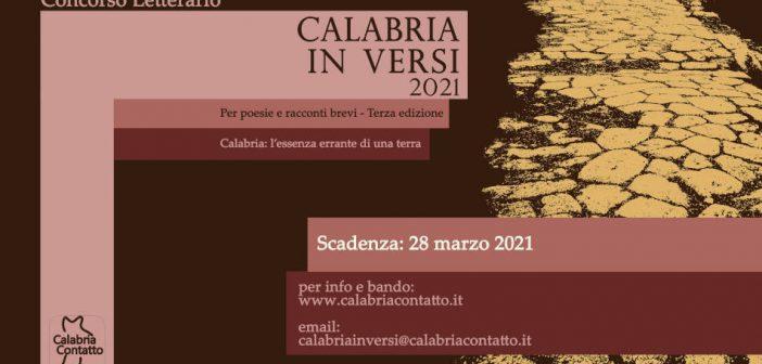 Concorso Letterario Locandina Calabria In Versi 2021 Calabria Contatto