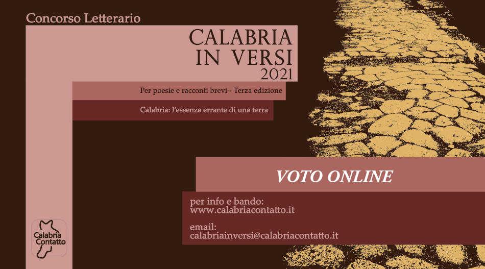 Concorso Letterario Voto Locandina Calabria In Versi 2021 Calabria Contatto
