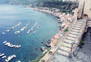 Scilla Mare Panorama Parentela Spiaggia Calabria Contatto