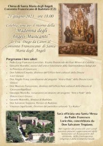 Celebrazione Madonna Degli Angeli Musicanti Badolato Calabria Contatto
