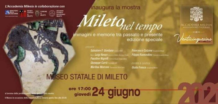 Locandina Museo Mileto Tempo Immagini Calabria Contatto