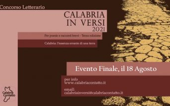 Concorso Letterario Evento Finale Calabria In Versi 2021 Calabria Contatto