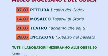 Laboratori Didattici 2021 Codex Museo Calabria Contatto
