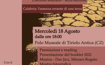 Concorso Locandina Calabria In Versi 2021 Evento Finale Polo Museale Calabria Contatto